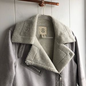 Urban Outfitters Jackets & Coats - New Urban Outfitters Aviator Moto Shearling Jacket